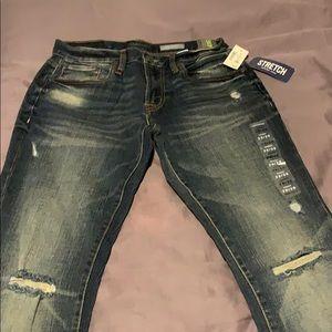 Brand New W Tags Men's 29/30 skinny stretch jeans